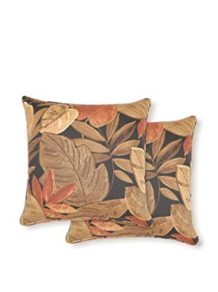 Dakota Set of 2 Saliceto Pillows (Lava)