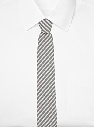 Thom Browne Men's Classic Seersucker Tie (Grey/White)