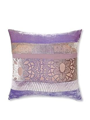 Kevin O'Brien Studio Patchwork Velvet Pillow, Iris, 16