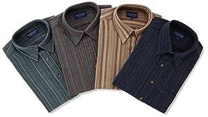(ラルフエヴァンス)RALPH EVANS 洗えるウール混シャツ4枚セット K2001-6