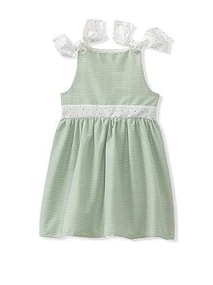 Je suis en CP! Nouette Dress (Green Stripes)