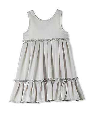 TroiZenfants Girl's Sleeveless Pleated Dress (Grey)