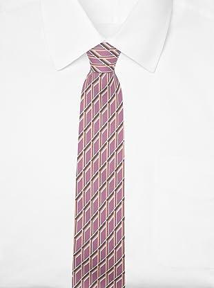 Hermès Men's Grid Tie (Lavender/Brown/Tan)