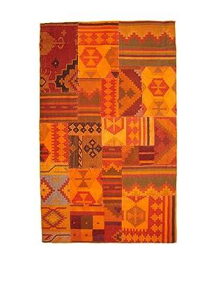 Abigails Kilim Patchwork Rug (Orange/Red)