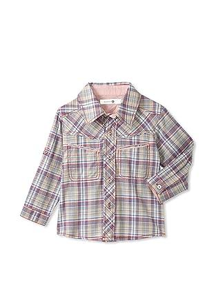 TroiZenfants Boy's Striped Shirt (Red)