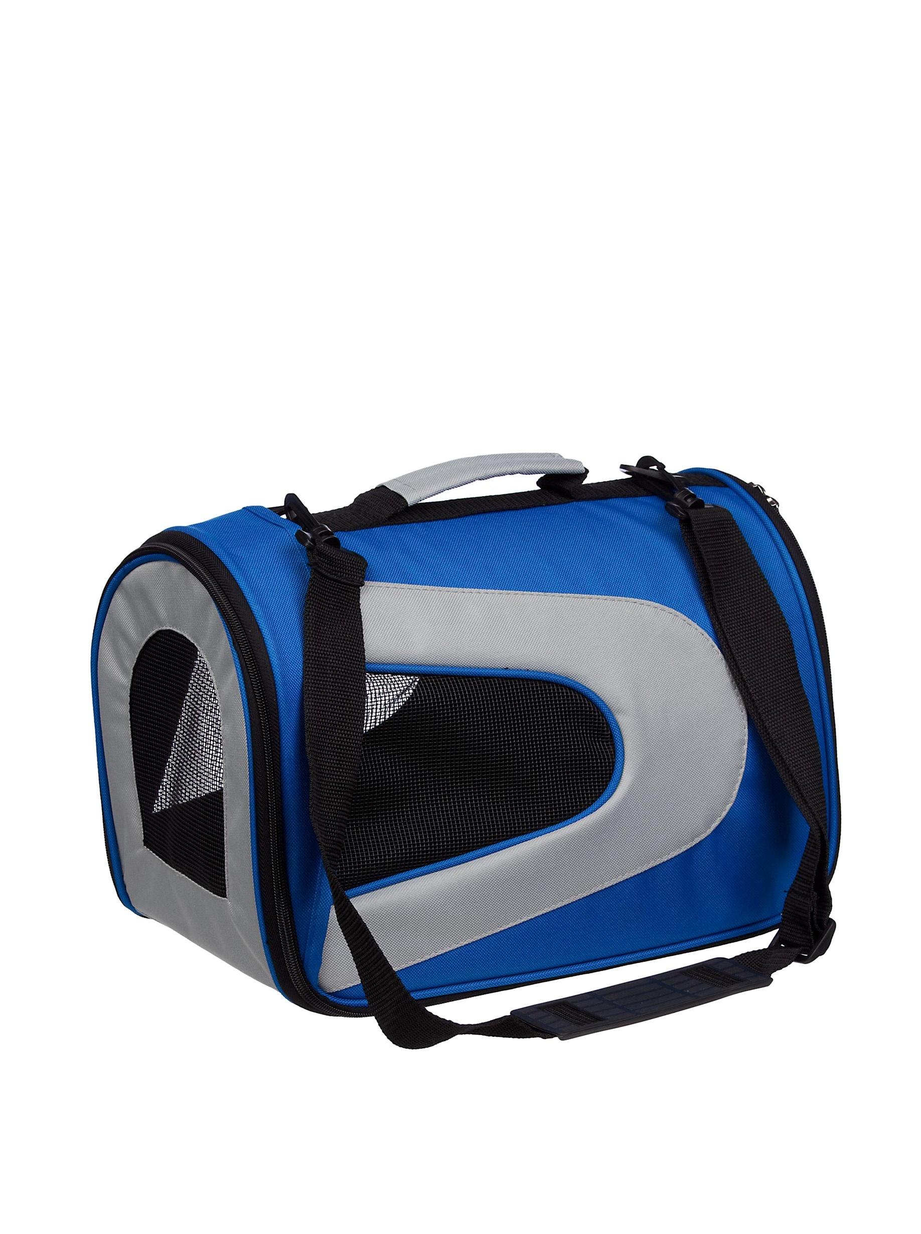 Pet Life Sporty Mesh Carrier (Blue/Grey)