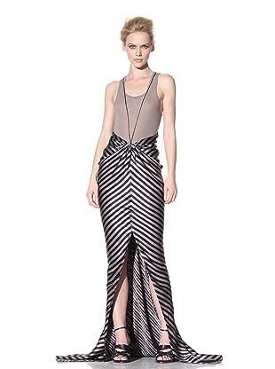 Haider Ackermann Women's Stripe Cutout Skirt (Vison)