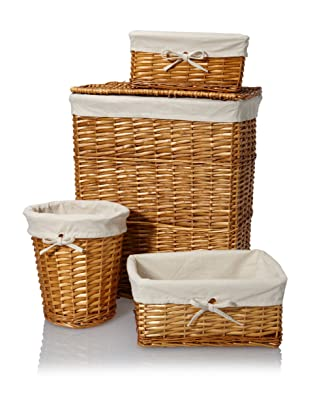 Creative Bath Wickerworks 4-Piece Hamper/Storage Set (Honey)