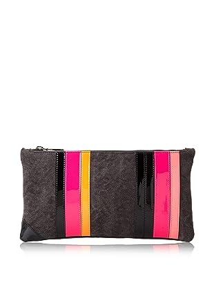 Ruthie Davis Women's Simple Clutch (Black/Hot Pink Multi)