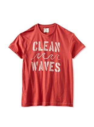 Tailgate Men's Clean Waves T-Shirt (Faded Red)