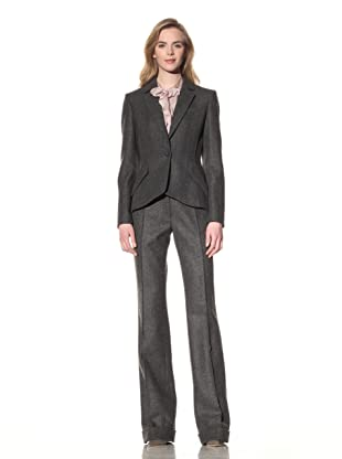 ALTUZARRA Women's Wool One-Button Blazer (Grey)