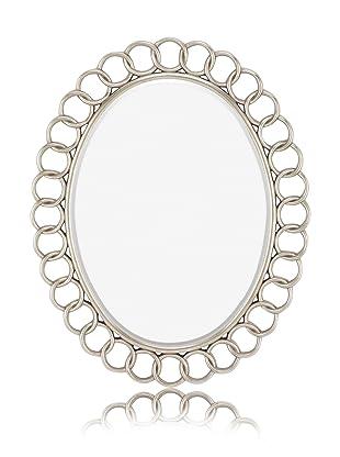 Grey Speckle Chain Link Mirror (Bright Silver)