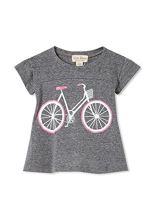Upper School Girl's Bicycle Babydoll Top (Heather Grey)