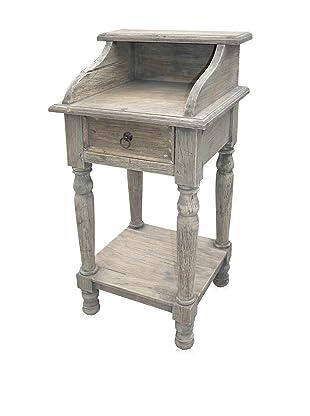 A&B Home Whitewashed Mahogany Cabinet
