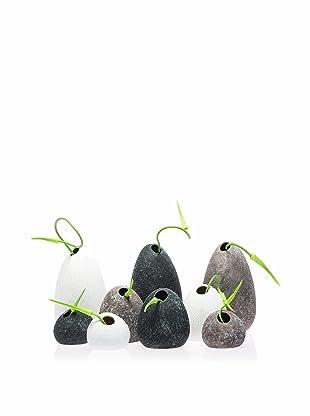 Chive Set of 9 Koski Rock Vases
