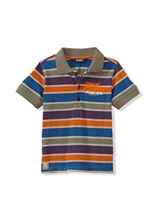 KANZ Boy's Striped Polo (Multi)