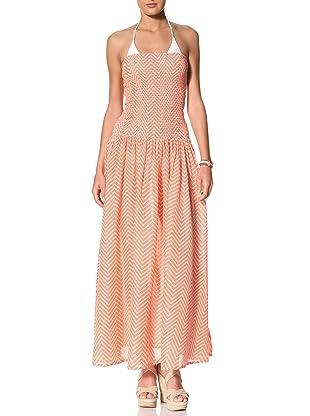 French Connection Women's Ziggy Maxi Dress (Geranium Rose/Antique Lace)