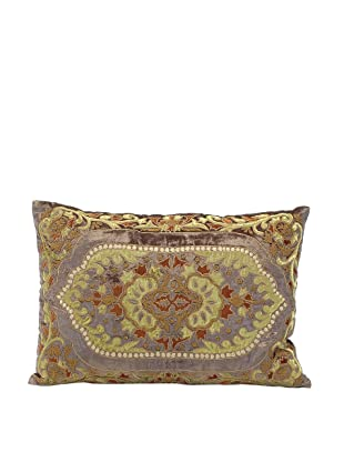 John-Richard Collection Appliquéd Velvet Pillow, 20