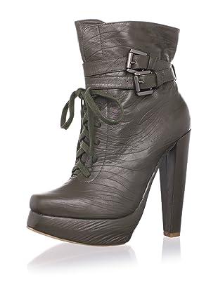 Plomo Women's Jimena Ankle Boot (Green Leather)