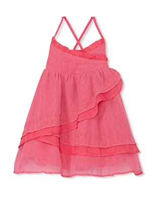 TroiZenfants Girl's Tiered Chiffon Dress (Pink)