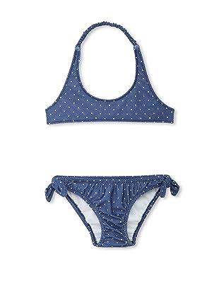 TroiZenfants Girl's 2-Piece Dotted Bikini (White)