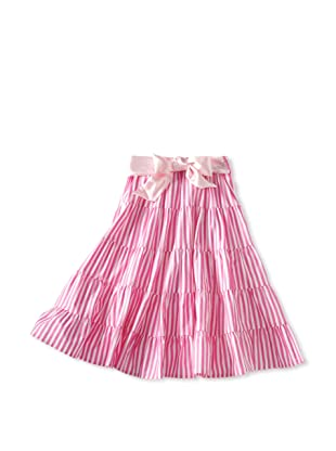 Amoretti Girl's Gypsy Queen Skirt (Pink Stripe)