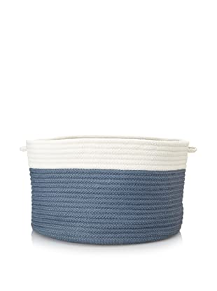 Colonial Mills Indoor/Outdoor Two-Toned Storage Basket (Lake Blue)
