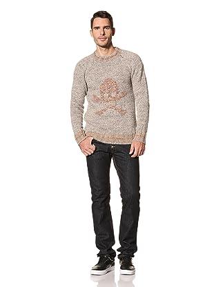 Vivienne Westwood Men's Skull Pullover Sweater (Grey/Beige)
