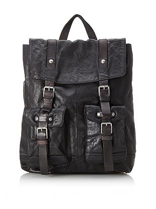 John Varvatos Star USA Men's Washed Leather Rucksack (Black)