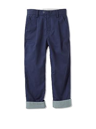 kicokids Boy's Classic Fit Peg Top Trousers (Indigo)