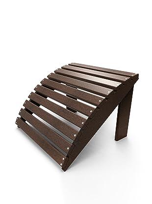 Malibu Outdoor Furniture Footstool (Dark Brown)