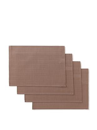 Winkler Set of 4 Bricks Jacquard Placemats (Taupe Brown)
