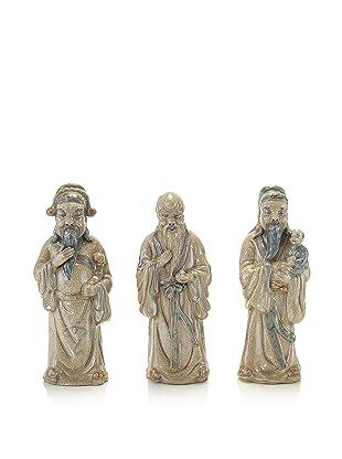 John-Richard Collection Set of 3 Ceramic Asian Wise Men