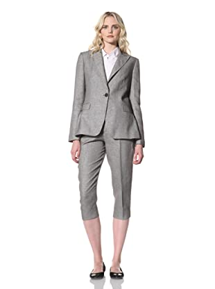 Billy Reid Women's Peak Lapel Blazer (Black/White)