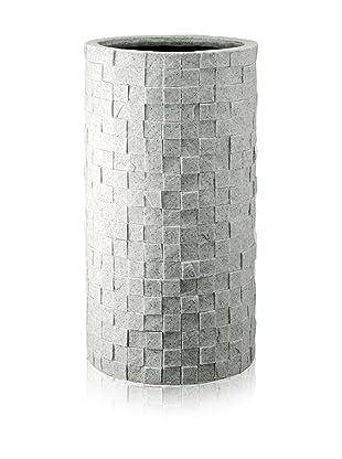 DKLiving Slim Round Faux Granite Planter, Grey
