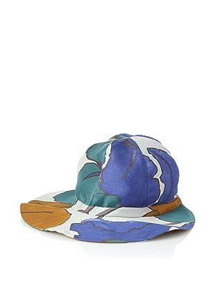 MARNI Women's Floral Organza Hat (Royal/Green)