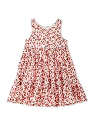 TroiZenfants Girl's Sleeveless Flower Dress (Red)