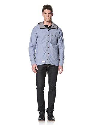 Marshall Artist Men's Hooded Chambray Shirt (Light Indigo)