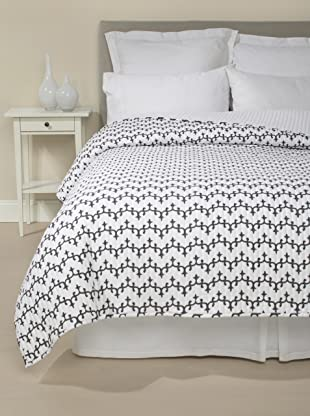 Jaipur Bedding Waves Quilt (Charcoal Grey)