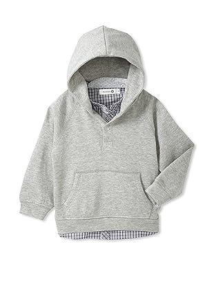 TroiZenfants Boy's Hoodie With Shirt (Grey)