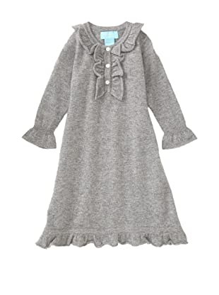 Bambeeno Girl's Ruffle-Trimmed Dress (Grey)