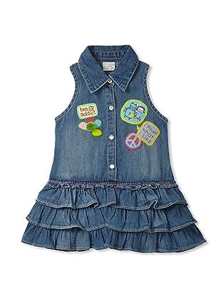 Le Petit Pumm Girl's Denim Shirtdress (Indigo)