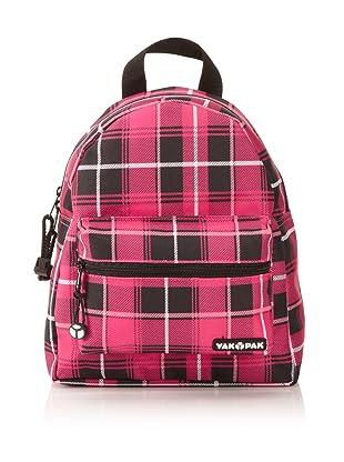 Yak Pak Mini Backpack (Mega Magenta/Black Plaid)