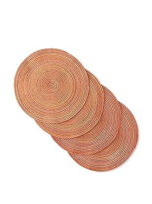 Winkler Set of 4 Round Empreinte Placemats (Orange)