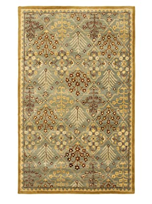 Safavieh Antiquities Collection Hand Tufted Wool Rug (Light Blue/Gold)