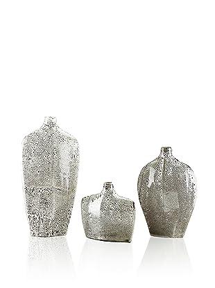 John-Richard Collection Set of 3 Ceramic Vases (White)