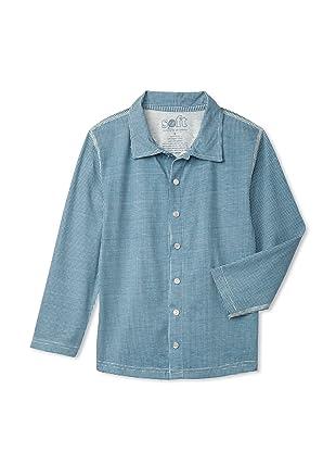 Soft Clothing Kid's Oliver Shirt (Windmill Blue)
