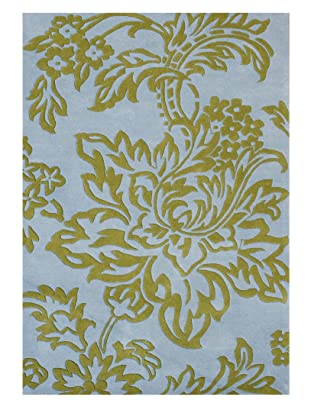 Horizon Alliyah Collection Floral Rug (Marine Blue/Olive)
