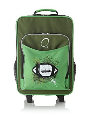 O3 Kids Rolling Luggage with Integrated Snack Cooler, Football