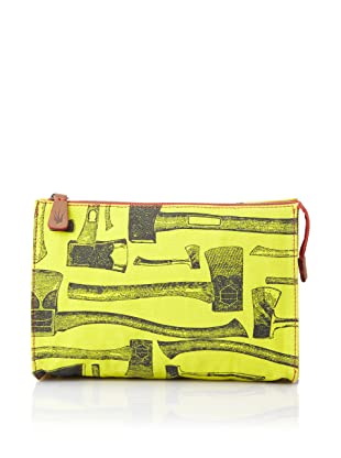 Loquita Women's Axe Top Zip Cosmetic Case (Lime)